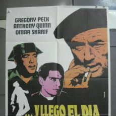 Cine: CDO 5205 Y LLEGO EL DIA DE LA VENGANZA GUERRA CIVIL ESPAÑOLA PECK QUINN POSTER ORIG 70X100 ESTRENO. Lote 218142661