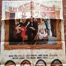 Cine: LAS MUJERES DE JEREMÍAS. CARTEL ORIGINAL. RAMÓN FERNÁNDEZ, ISELA VEGA, JORGE RIVERO, ANDRÉS GARCÍA. Lote 218143202