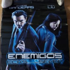Cine: ENEMIGOS, ECKS CONTRA SEVER - APROX 70X100 CARTEL ORIGINAL CINE (L75). Lote 218167210