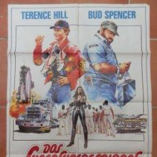 "Cine: GRAN CARTEL DE CINE ""DOS SUPERESBIRROS"". BUD SPENCER Y TERENCE HILL.. Lote 218220167"