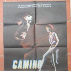 Cine: GRAN CARTEL DE CINE CAMINO SOLITARIO. DISTRIBUCIÓN CINEMA INTERNATIONAL CORPORATION 1983.. Lote 218223236