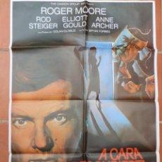 Cine: GRAN CARTEL DE CINE A CARA DESCUBIERTA CB FILMS 1984.. Lote 218223876