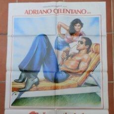 Cine: GRAN CARTEL DE CINE SEÑAS PARTICULARES: HERMOSSSISIMO. CB FILMS 1984. ADRIANO CELENTANO.. Lote 218224798