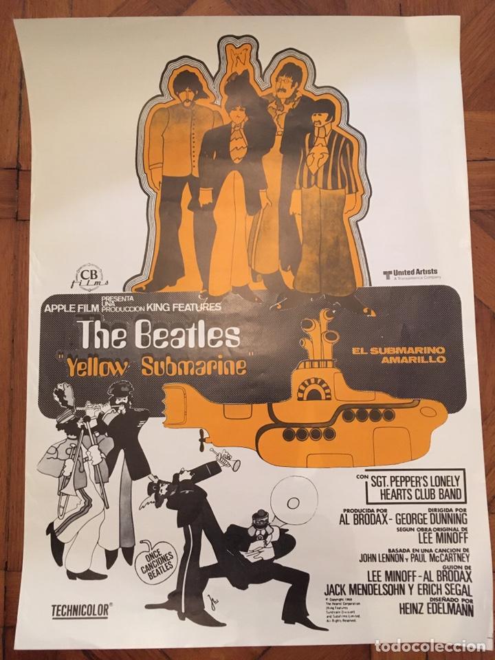 YELLOW SUBMARINE SUBMARINO AMARILLO BEATLES POSTER CARTEL ORIGINAL ESTRENO PERFECTO ESTADO (Cine - Posters y Carteles - Musicales)