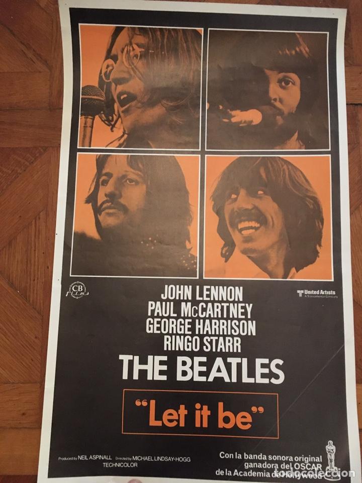 Cine: Let it be beatles poster cartel original estreno muy buen estado - Foto 2 - 218225312