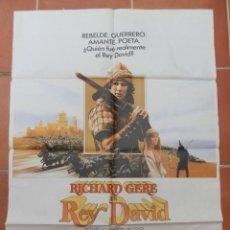 Cine: GRAN CARTEL DE CINE EL REY DAVID. RICHARD GERE. PARAMOUNT 1985.. Lote 218226321