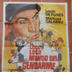 Cine: GRAN CARTEL DE CINE EL LOCO, LOCO MUNDO GENDARME. MEDITERRANEO FILMS 1982. LOUIS DE FUNES.. Lote 218226713