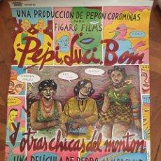 Cine: PEPI LUCI BOM Y OTRAS CHICAS DEL MONTON ALMODOVAR POSTER CARTEL ORIGINAL ESTRENO. Lote 218227107