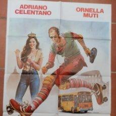 Cine: GRAN CARTEL DE CINE FURIOSAMENTE ENAMORADO. ADRIANO CELENTANO, ORNELLA MUTI. CB FILMS 1981.. Lote 218227845