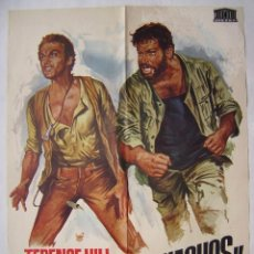 Cine: MAS FUERTE MUCHACHOS, CON TERENCE HILL. PÓSTER 70 X 100 CMS.1973.. Lote 218339365