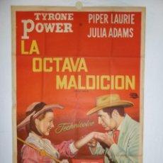 Cine: LA OCTAVA MALDICION (EL CABALLERO DEL MISSISSIPPI) - 110 X 75 - 1953 - LITOGRAFICO. Lote 218356557