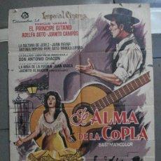 Cine: CDO 5260 EL ALMA DE LA COPLA EL PRINCIPE GITANO YAÑEZ POSTER ORIGINAL 70X100 ESTRENO. Lote 218415728