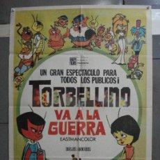 Cine: CDO 5267 TORBELLINO VA A LA GUERRA ROBERTO GAVIOLI POSTER ORIGINAL 70X100 ESTRENO. Lote 218418577