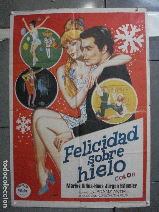 CDO 5283 FELICIDAD SOBRE EL HIELO MARIKA KILIUS PATINAJE POSTER ORIGINAL 70X100 ESTRENO (Cine - Posters y Carteles - Deportes)