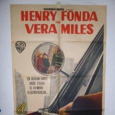 Cinéma: HOMBRE EQUIVOCADO - 1949 - 105 X 70 - LITOGRAFICO. Lote 218460688