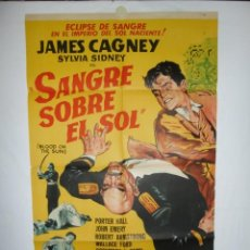 Cine: SANGRE SOBRE EL SOL - 1945 - 110 X 70 - LITOGRAFICO. Lote 218461518