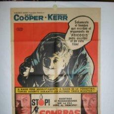 Cine: SOMBRAS DE SOSPECHA - 1944 - 110 X 75 - LITOGRAFICO. Lote 218461736
