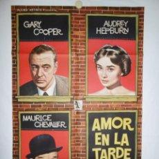 Cine: AMOR EN LA TARDE (ARIANE) - 1957 - 105 X 70 - LITOGRAFICO. Lote 218463032