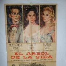 Cine: EL ARBOL DE LA VIDA - 1957 - 110 X 75 - LITOGRAFICO. Lote 218464305
