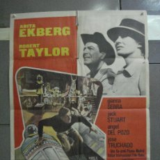 Cine: CDO 5303 LA ESFINGE DE CRISTAL ROBERT TAYLOR ANITA EKBERG POSTER ORIGINAL 70X100 ESTRENO. Lote 218491346