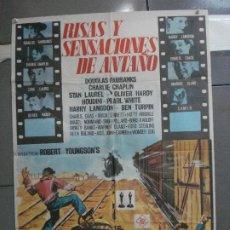 Cine: CDO 5306 RISAS Y SENSACIONES DE ANTAÑO CHAPLIN LAUREL HARDY HOUDINI POSTER ORIGINAL 70X100 ESTRENO. Lote 218493905