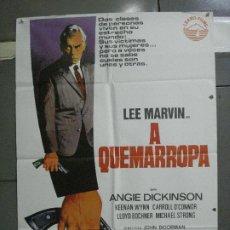 Cine: CDO 5311 A QUEMARROPA LEE MARVIN JANO POSTER ORIGINAL 70X100 ESPAÑOL R-75. Lote 218494535