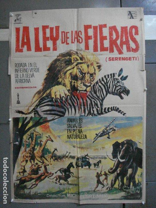 CDO 5315 LA LEY DE LAS FIERAS DOCUMENTAL AFRICA SALVAJE SERENGETI POSTER ORIGINAL 70X100 ESTRENO (Cine - Posters y Carteles - Documentales)