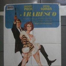 Cine: CDO 5337 ARABESCO SOFIA LOREN GREGORY PECK POSTER ORIGINAL 70X100 ESPAÑOL R-74. Lote 218505817
