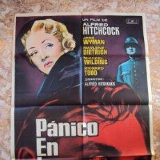 Cine: (CINE-556)CARTEL - PANICO EN LA ESCENA - ALFRED HITCHCOCK, MARLENE DIETRICH - AÑO 1961. Lote 218509573