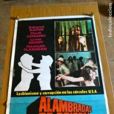 Cine: POSTER - ALAMBRADAS DE CRISTAL - DEBORAH RAFFIN, ORIGINAL 1977 -. Lote 218510137