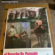 Cine: POSTER - EL DERECHO DE PERNADA - LANDO BUZZANCA, ORIGINAL 1978 -. Lote 218510330