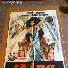 Cine: POSTER - NINA - LIZA MINNELLI, ORIGINAL 1977. Lote 218511667