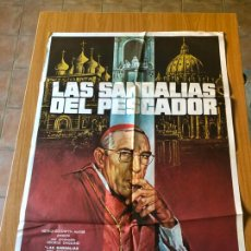 Cine: POSTER - LAS SANDALIAS DEL PESCADOR - ANTHONY QUINN, ORIGINAL - CARTELISTA MAC. Lote 218512050