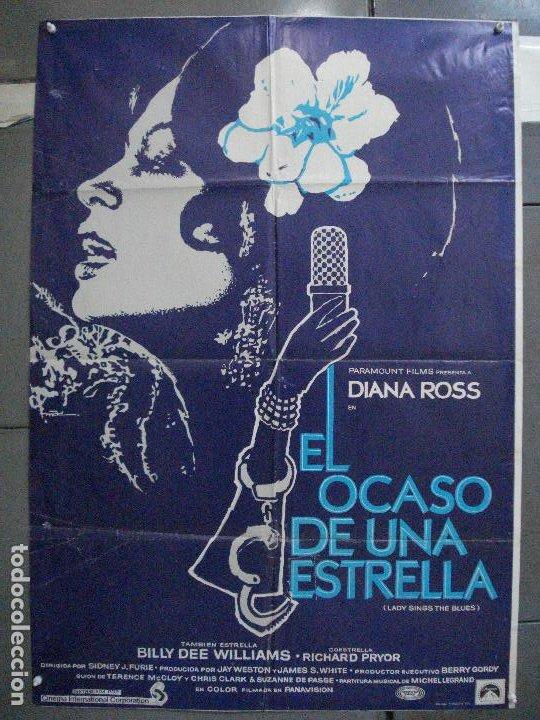 CDO 5356 EL OCASO DE UNA ESTRELLA DIANA ROSS POSTER ORIGINAL 70X100 ESTRENO (Cine - Posters y Carteles - Musicales)