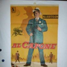 Cine: AL CAPONE - 1959 - 105 X 70 - LITOGRAFICO. Lote 218561342