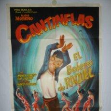 Cine: EL BOLERO DE RAQUEL (CANTINFLAS) - 1957 - 110 X 75 - LITOGRAFICO. Lote 218561563