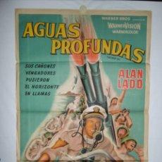 Cine: AGUAS PROFUNDAS - 1958 - 110 X 75 - LITOGRAFICO. Lote 218561938