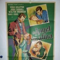 Cine: ANGEL SIN ALMA - 1950 - 110 X 75 - LITOGRAFICO. Lote 218562003