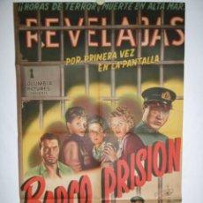 Cine: BARCO PRISION - 1954- 105 X 70 - LITOGRAFICO. Lote 218562115