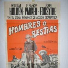 Cine: HOMBRE O BESTIAS (FORT BRAVO) - 1953 - 110 X 75 - LITOGRAFICO. Lote 218562268