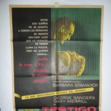 Cine: TESTIGO DEL CRIMEN - 1954 - 110 X 75 - LITOGRAFICO. Lote 218562322