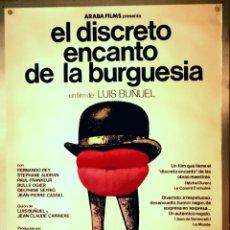 Cine: EL DISCRETO ENCANTO DE LA BURGUESIA - 70 X 100. Lote 218572975