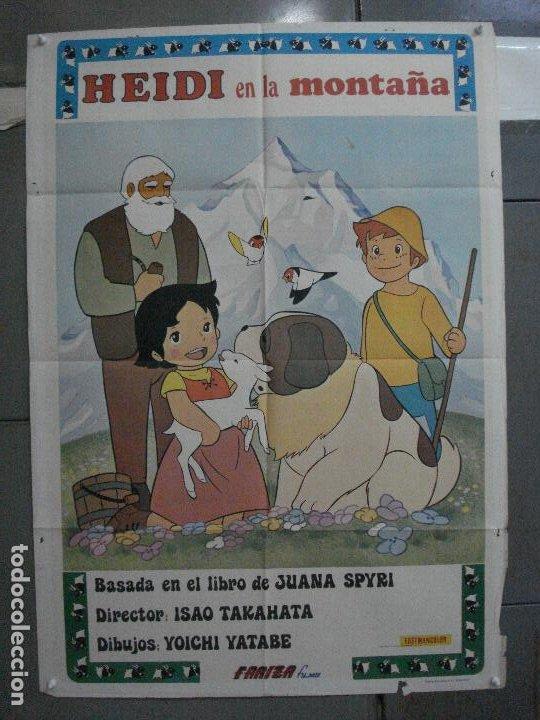 CDO 5377 HEIDI EN LA MONTAÑA ANIMACION TV SERIES POSTER ORIGINAL ESTRENO 70X100 (Cine - Posters y Carteles - Infantil)