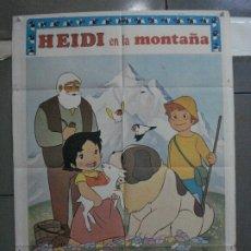 Cine: CDO 5377 HEIDI EN LA MONTAÑA ANIMACION TV SERIES POSTER ORIGINAL ESTRENO 70X100. Lote 218578857