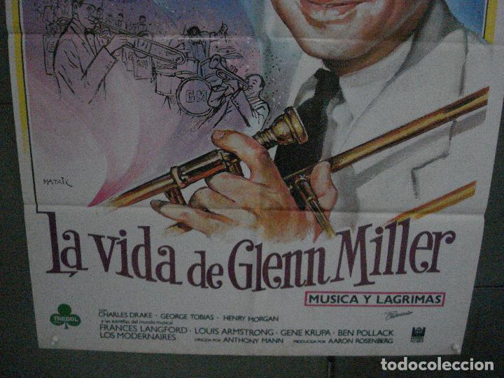 Cine: CDO 5383 LA VIDA DE GLENN MILLER MUSICA Y LAGRIMAS JAMES STEWART MATAIX POSTER 70X100 ESPAÑOL R-85 - Foto 3 - 218583870
