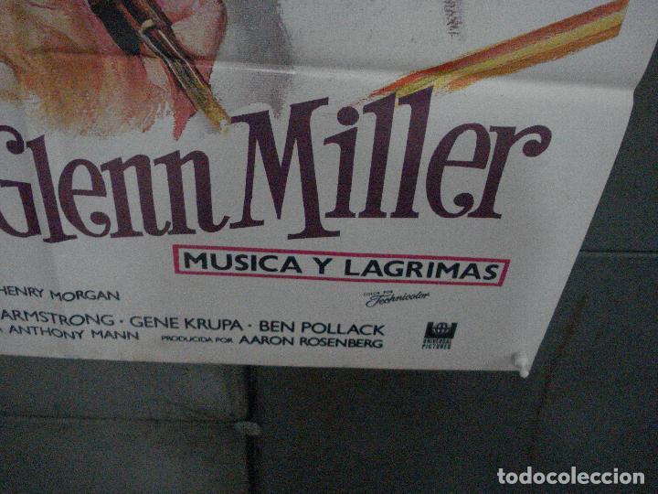Cine: CDO 5383 LA VIDA DE GLENN MILLER MUSICA Y LAGRIMAS JAMES STEWART MATAIX POSTER 70X100 ESPAÑOL R-85 - Foto 7 - 218583870