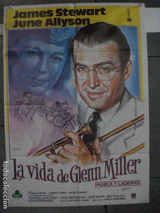 CDO 5383 LA VIDA DE GLENN MILLER MUSICA Y LAGRIMAS JAMES STEWART MATAIX POSTER 70X100 ESPAÑOL R-85 (Cine - Posters y Carteles - Musicales)