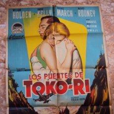 Cine: (CINE-565)LOS PUENTES DE TOKO-RI. WILLIAM HOLDEN-GRACE KELLY. CARTEL ORIGINAL LITOGRAFÍA. Lote 218602840