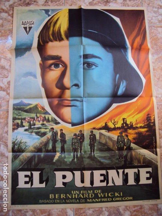 (CINE-569)EL PUENTE BERNHARD WICKI POSTER ORIGINAL (Cine - Posters y Carteles - Bélicas)