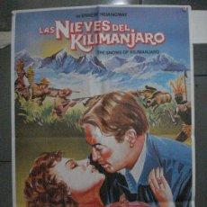 Cine: CDO 5393 LAS NIEVES DE KILIMANJARO AVA GARDNER GREGORY PECK SUSAN HAYWARD POSTER 70X100 ESPAÑOL R-80. Lote 218604076